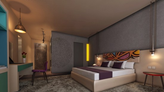 Render of one of the rooms from ibis Styles Jumeirah