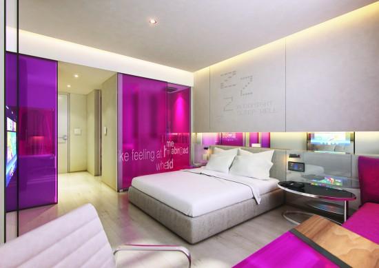 A rendering of one of Studio M's bedroom