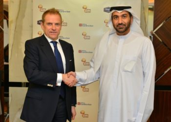 Simon Vincent, Executive Vice President and President, Europe, Middle East & Africa for Hilton Worldwide, and  Mr. Hesham Al Qassim, CEO, wasl Asset Management Group parent company of wasl hospitality and leisure