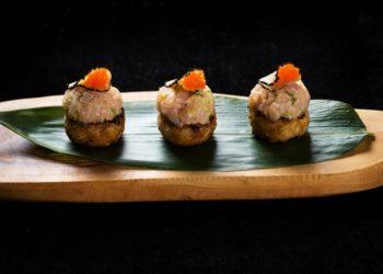 Hamachi truffle grilled rice at OKKU