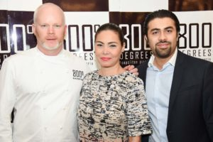 Anthony Caron, Founder of 800 Degrees, K Brosas, singer, actor and comedian from Philippines, Manish Jeswani, MD of Eaters ME and Franchise owner of 800 Degrees