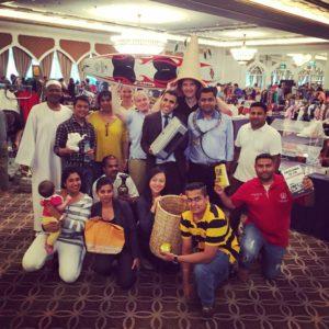 Sheraton Abu Dhabi team at the last flea market