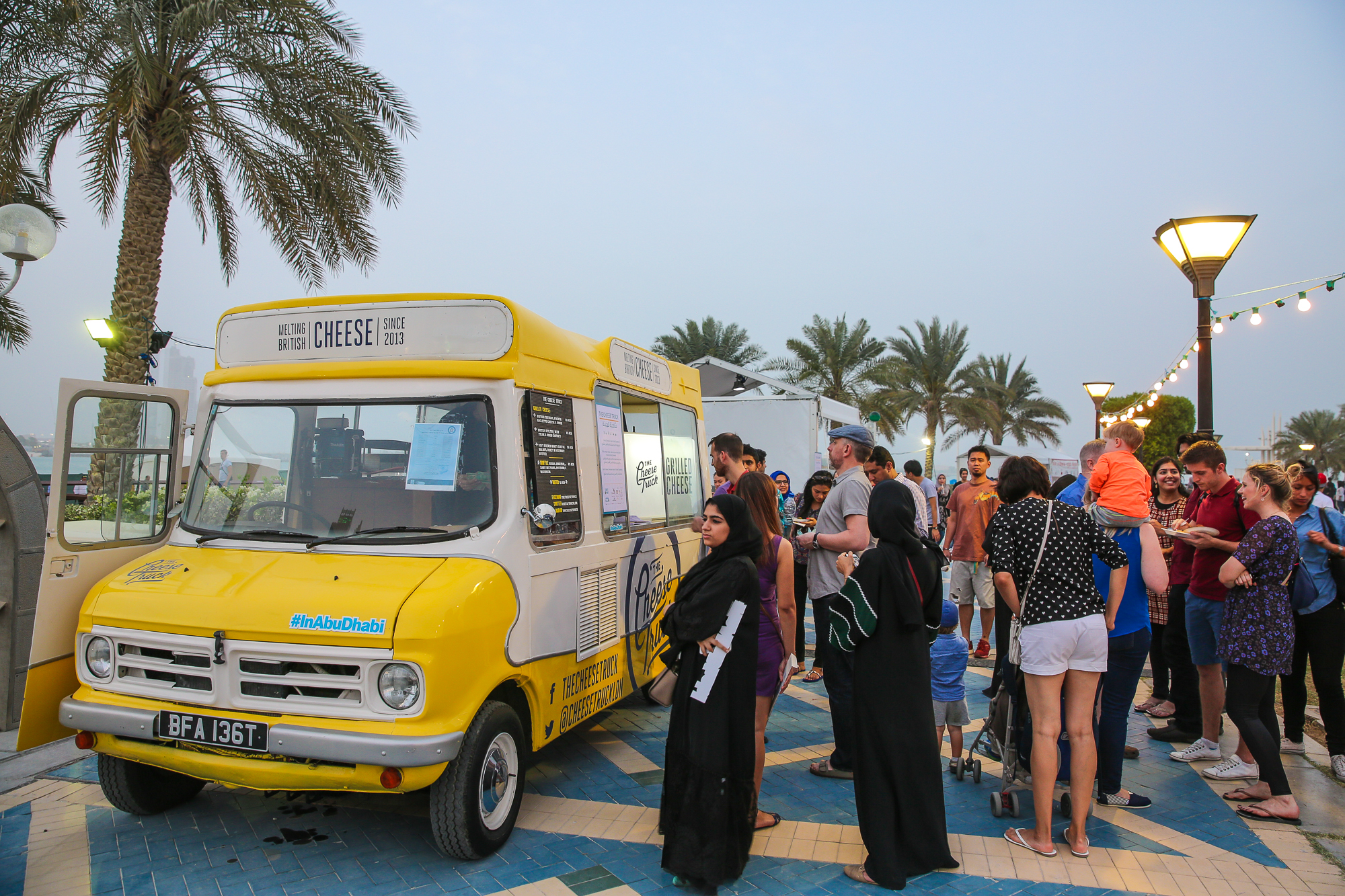 The Cheese truck attracts foodies