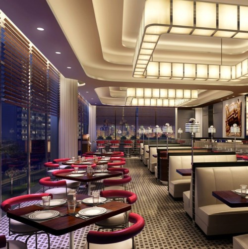 A rendering of Firebird Diner by Michael Mina