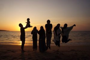 Muslims In Indonesia Beach