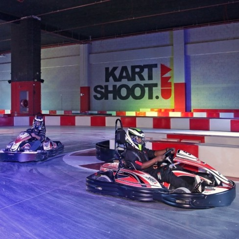 The go-kart track is suitable for children aged nine and over and prices start from AED 80.