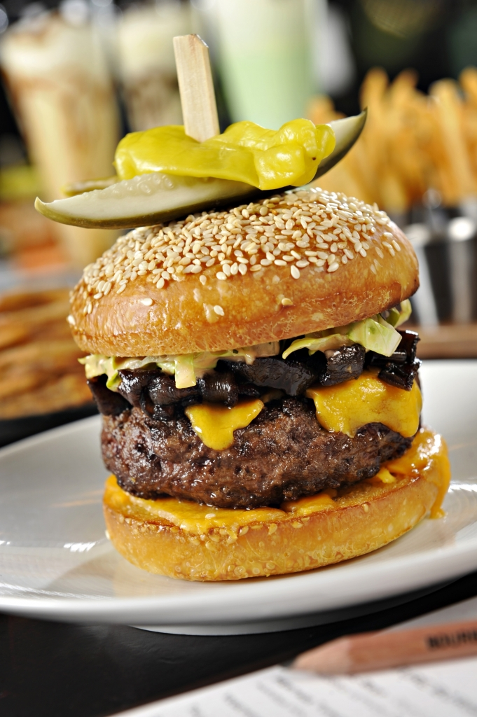 The award-winning Michael Mina burger