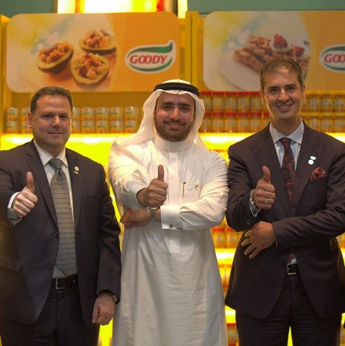 (Centre) Khalid Temairik, general manager of Goody with (right) Khaled Issa, chief operating officer at Juma Al Majid Group
