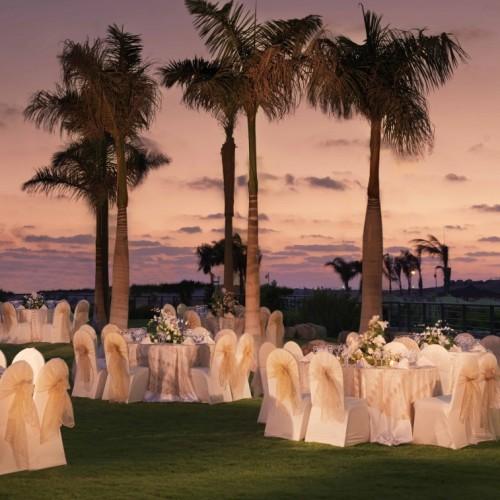 Open-air weddings are held in Radisson Blu Hotel Alexandria's Fanar Garden