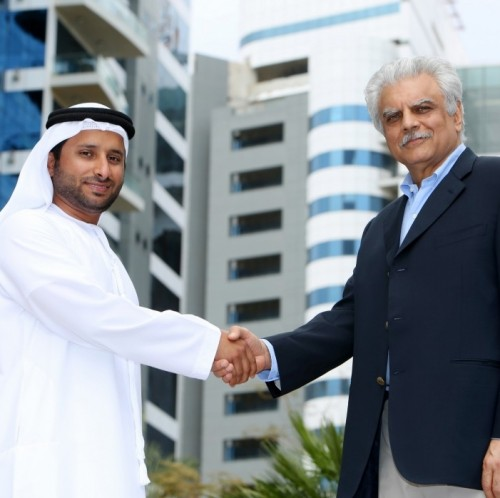 Abdulla Bin Sulayem, CEO, Seven Tides International and Sudheer Bahl, owner of Khyber