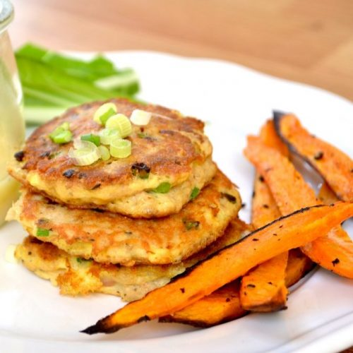 The Cycle Bistro: Salmon Cakes with Sweet Potato Fries