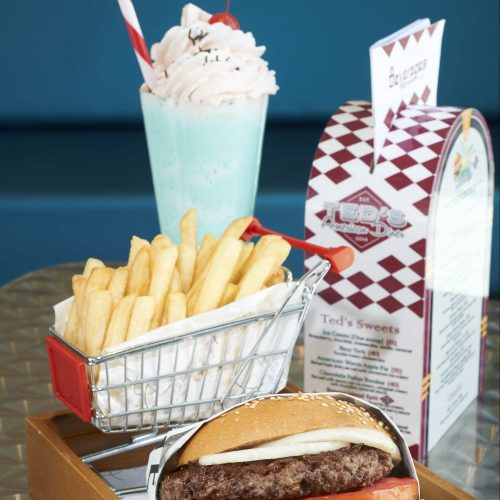 Ted's Original – the original beef burger, which comes with a choice of cheddar, Swiss or American cheese.