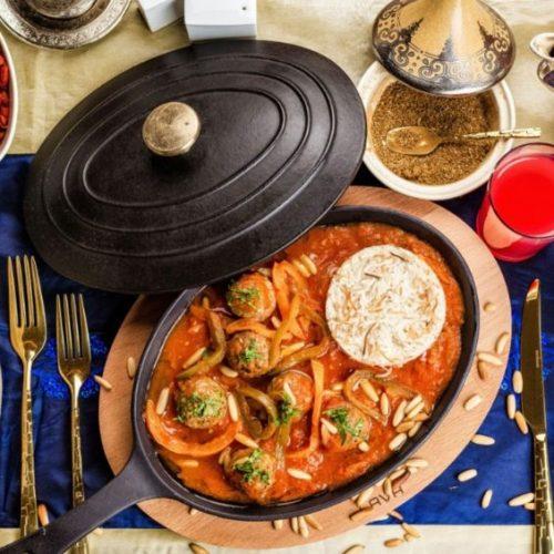The iftar set-up at Four Seasons Resort Dubai at Jumeirah Beach