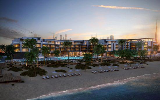 Nikki Beach Resort & Spa Dubai opening 2016 - hotel birds-eye view