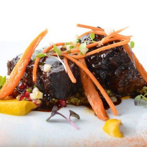 BBQ-braised beef short ribs - Firebird Diner by Michael Mina