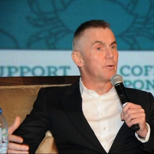 Gary Rhodes during an on-stage interview