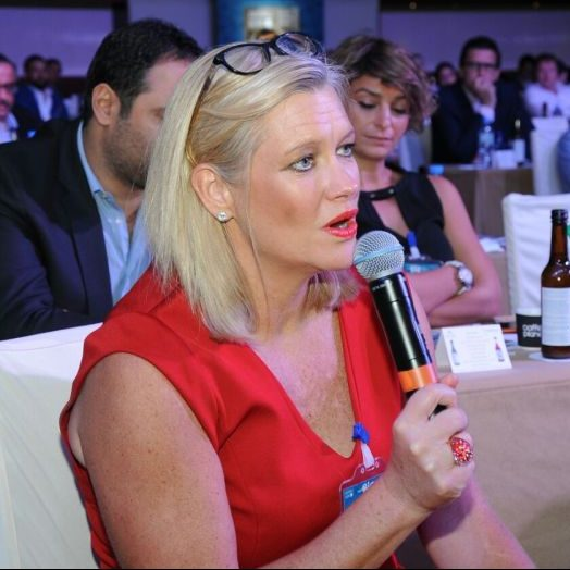 Emma Banks, GM of Jumeirah Restaurant Group was in the audience