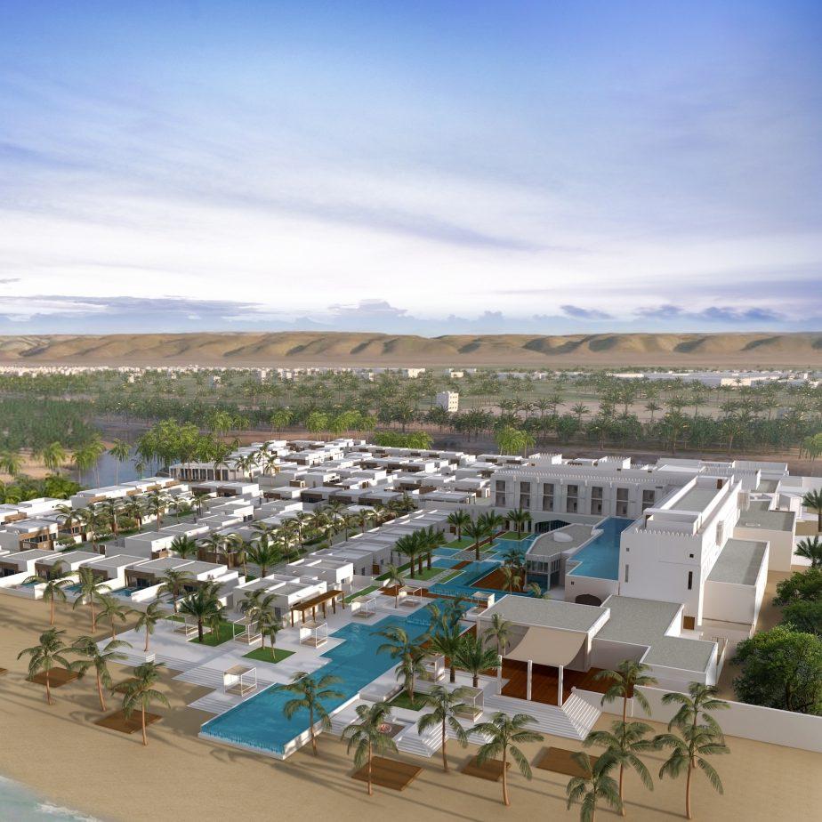 Al-Baleed-Resort-–-Salalah-by-Anantara-Aerial-View-Rendering