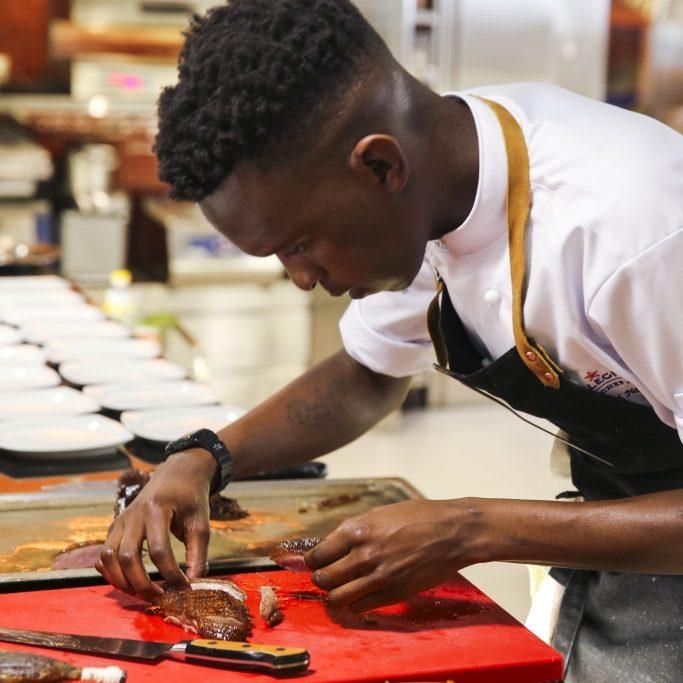Chef Vusumuzi in action
