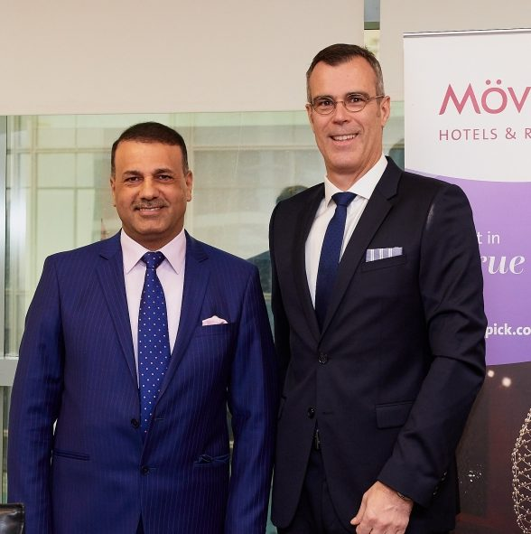 Akeel Ibraheem Al-Khalidy, Chairman of the South Group Corporation and Chairman of the Committee on Economic Development and Investment, part of Basra Council, with Olivier Chavy, president & CEO, Mövenpick Hotels & Resorts.