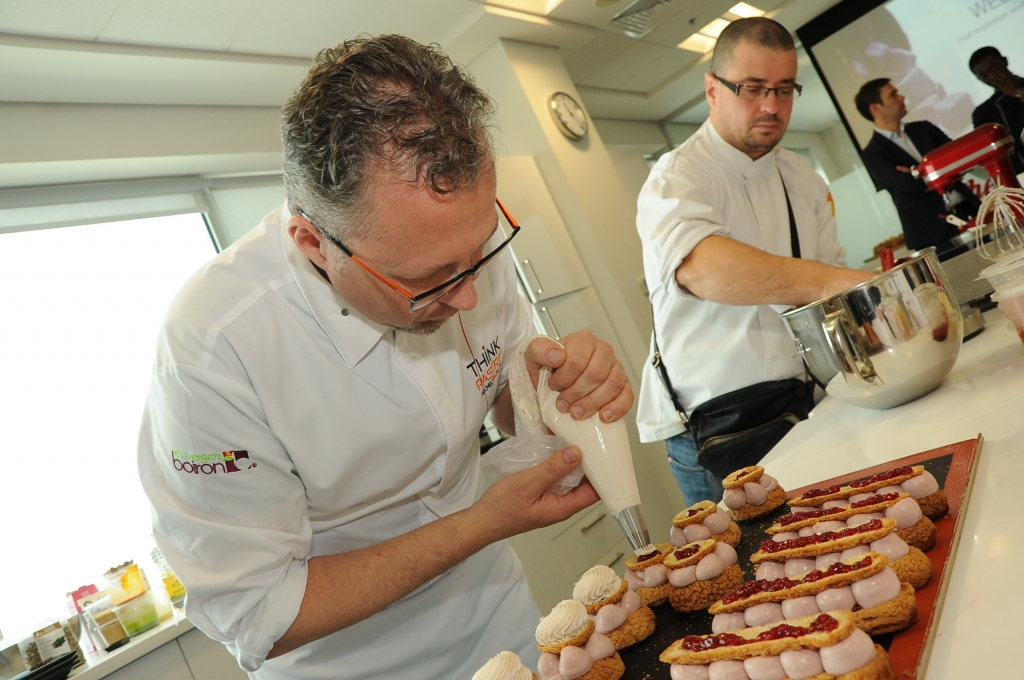 Chef Michel Willaume in action during the workshop