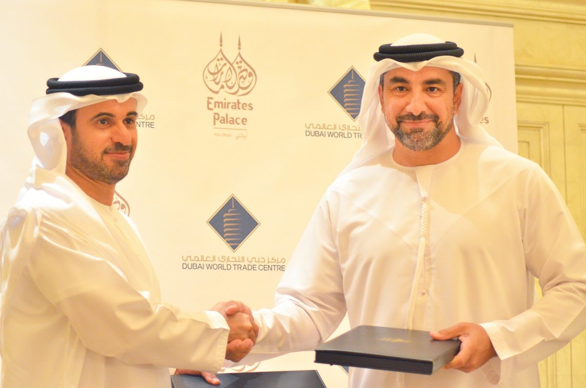 (L - R) His Excellency Sultan Dahi Al Hameeri, Managing Director of EPCO and Mahir Julfar, Senior Vice President – Venue Services Management, DWTC