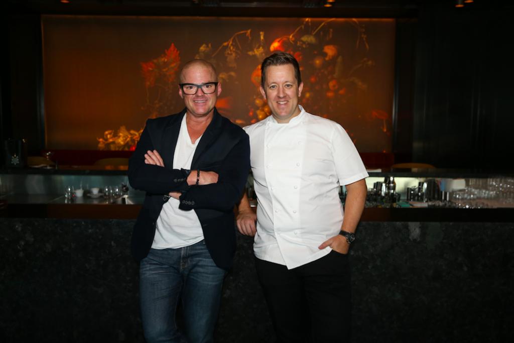 Heston Blumenthal with Ashley Palmer-Watts, executive chef of Dinner at the Royal Atlantis Resort & Residences