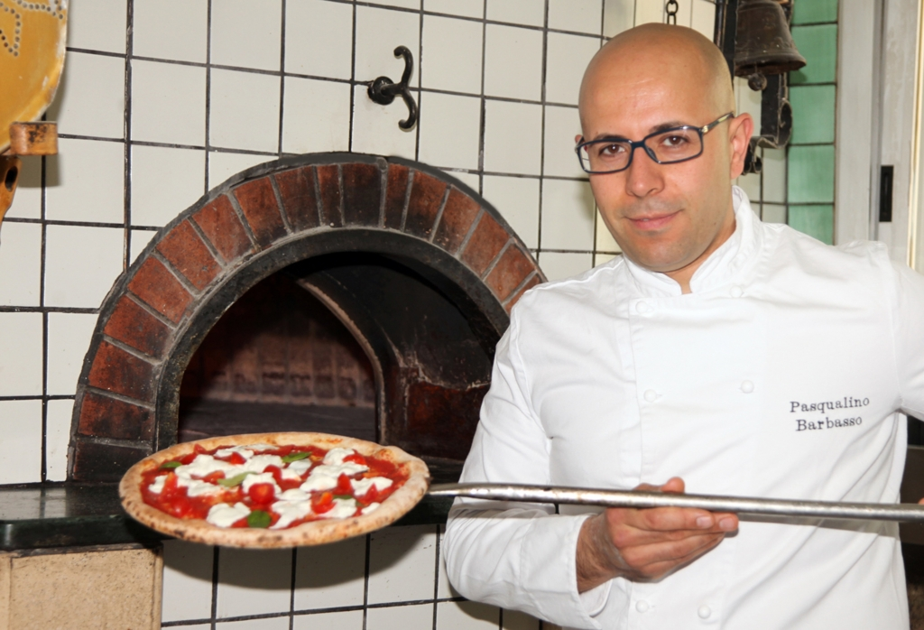 World champions Pizza acrobat Chef Pasqualino Barbasso