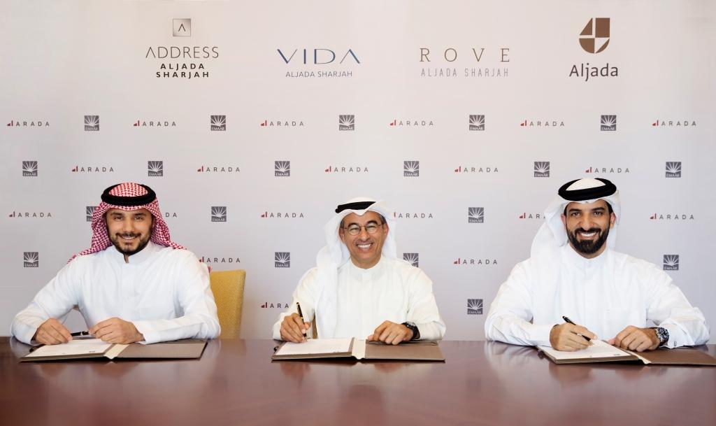 HRH Prince Khaled bin Alwaleed bin Talal AlSaud, HE Mohamed Alabbar and HE Sheikh Sultan bin Ahmed Al Qasimi