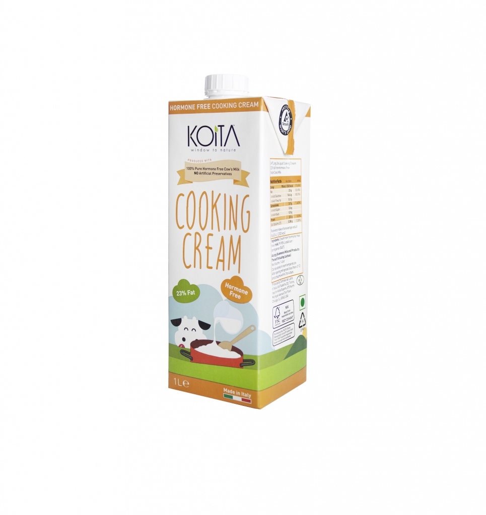 cooking cream - white - angled