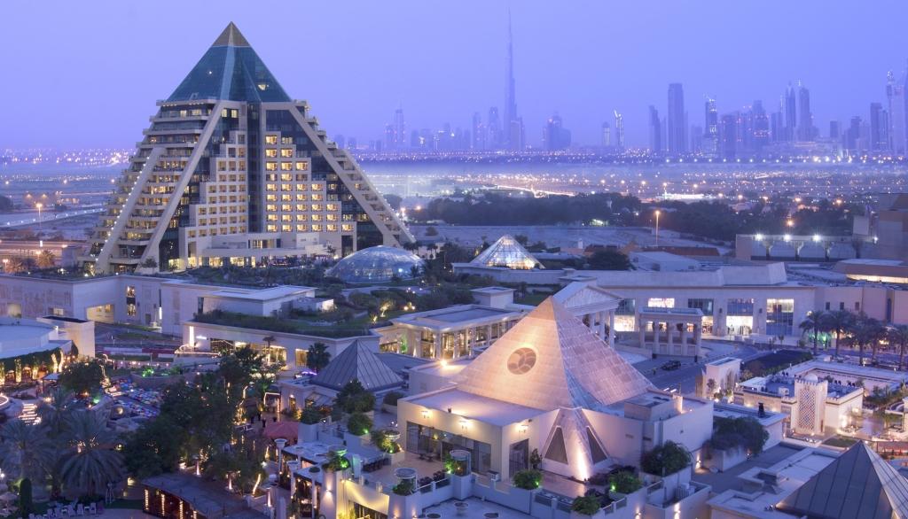 Raffles Dubai exterior with city views