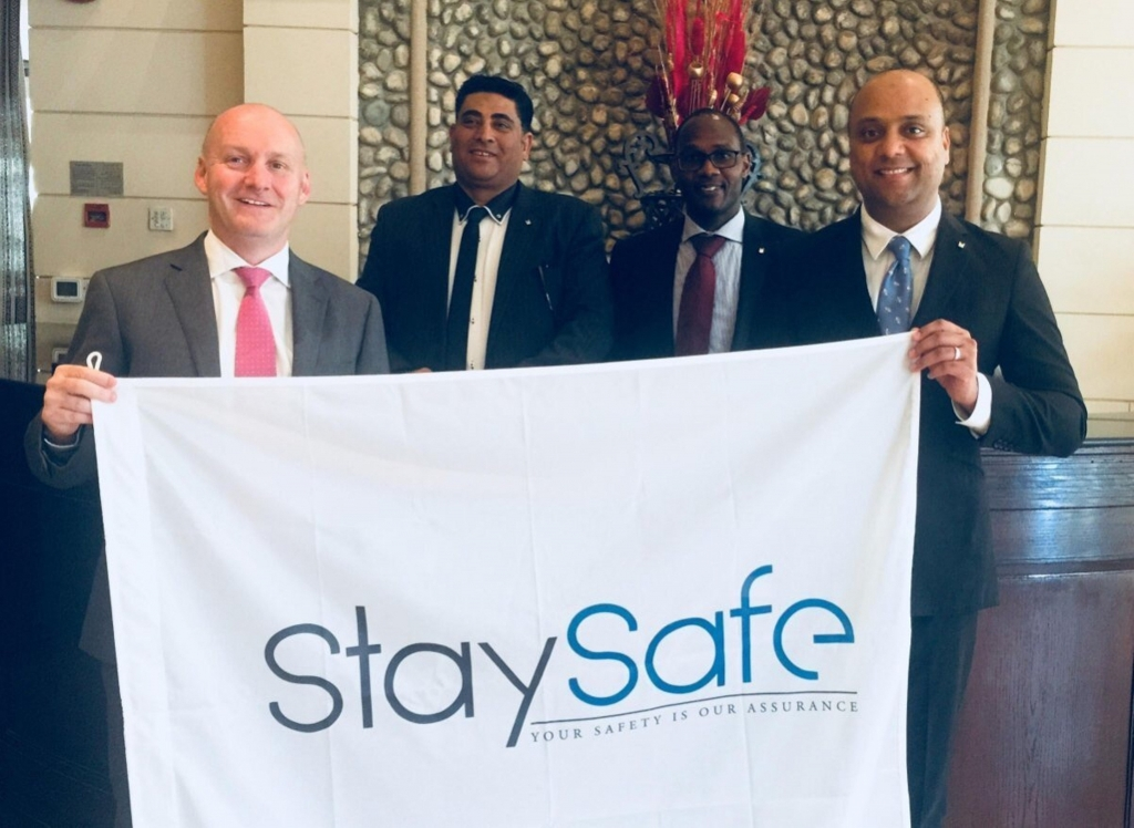 (From Left side Richard Higgins of Stay Safe Hospitality, From MAHD Moha...