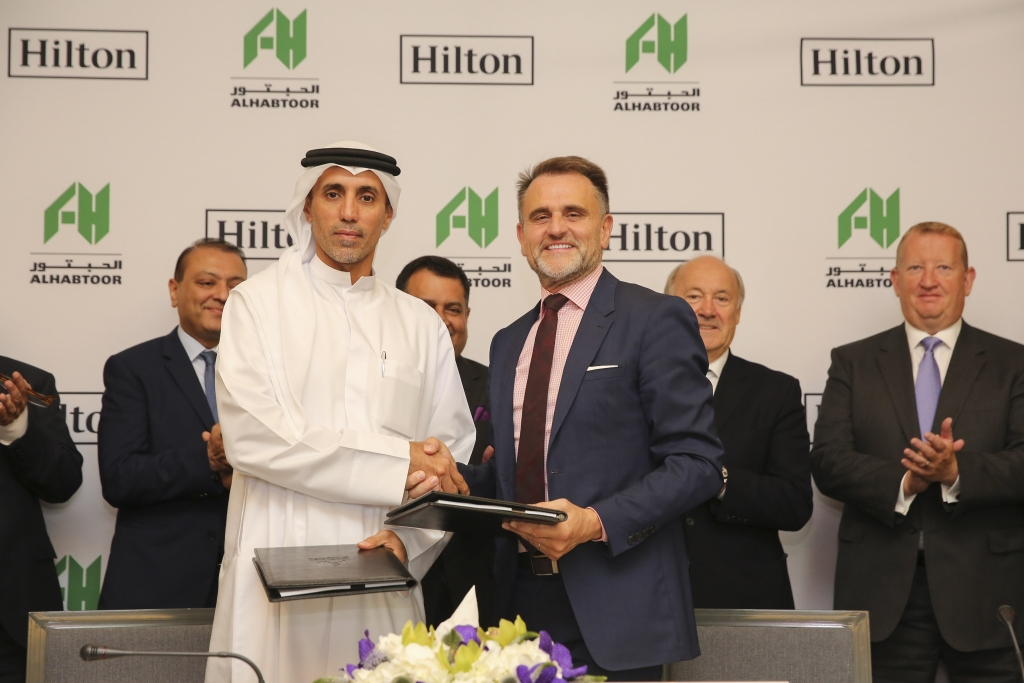 Mohammed Al Habtoor and Ian R. Carter at the signing ceremony