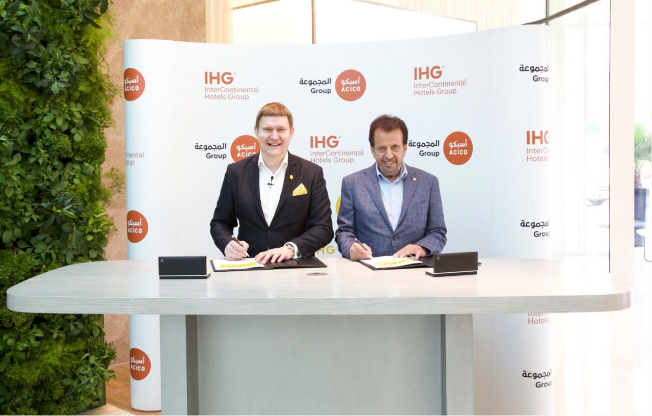 Kenneth MacPherson, CEO EMEAA at IHG pictured with Ghassan Alkhaled, CEO and vice chairman of ACICO Group