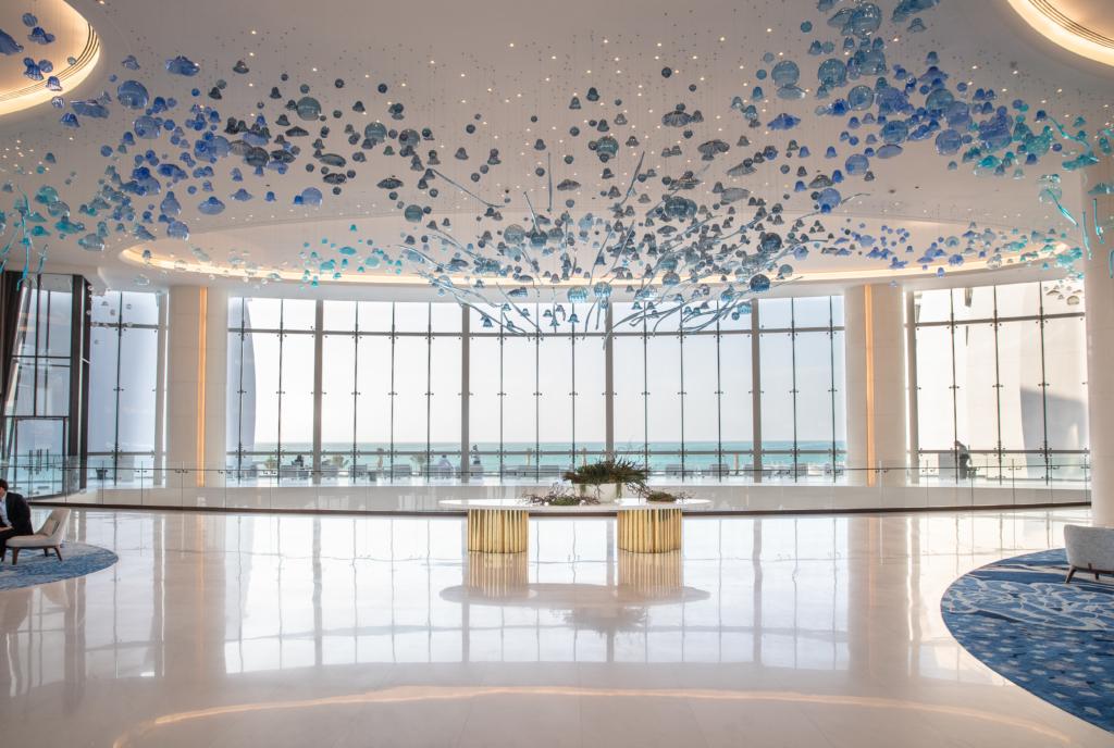 The stunning hotel lobby, Jumeirah at Saadiyat Island Resort