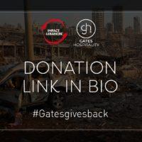 Gates Hospitality supports Impact Lebanon campaign
